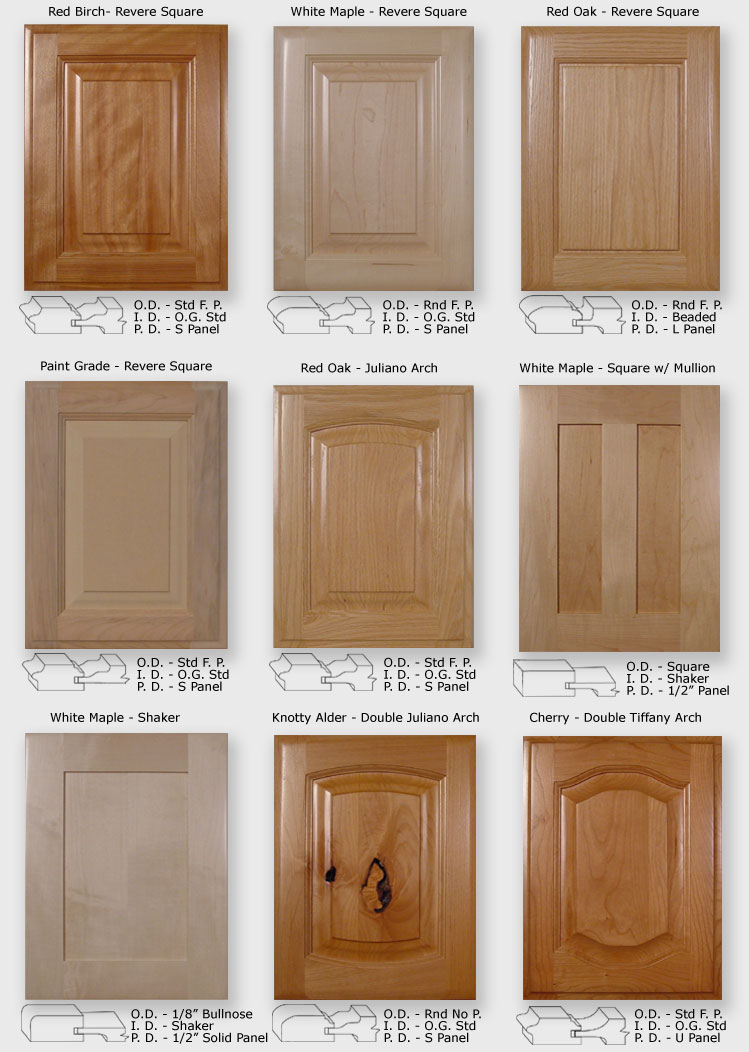 10 fabulous door design ideas interior exterior ideas for Kitchen cabinet wood types