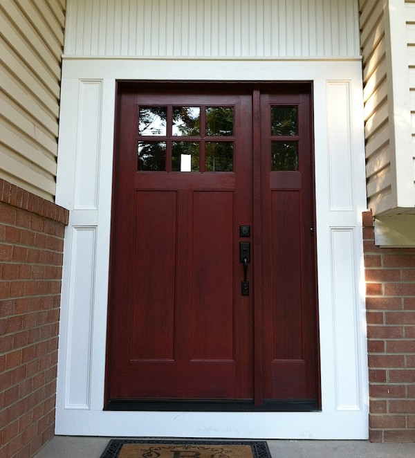choose a waterproof exterior door if you choose a exterior wood door