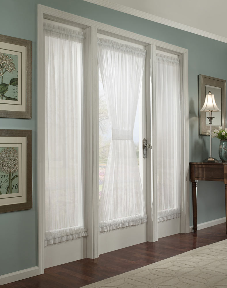 Front door window treatments - Sliding Glass Door Blinds French Door Curtains 4