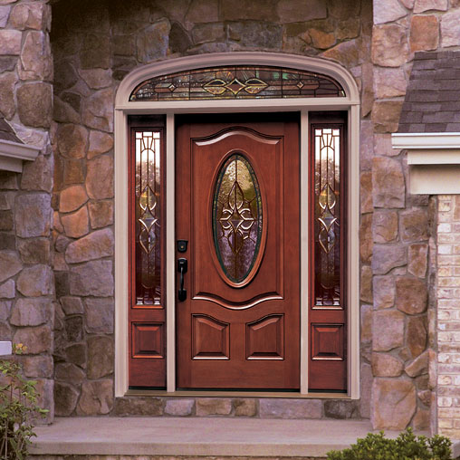 10 colours to enhance your front entry doors interior for Glass entry doors for home