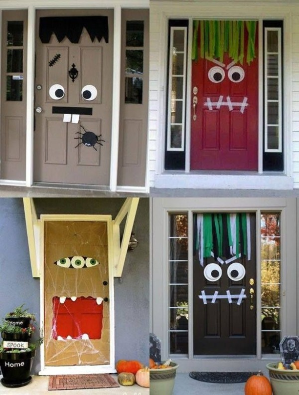 11 halloween door decorations interior exterior ideas. Black Bedroom Furniture Sets. Home Design Ideas