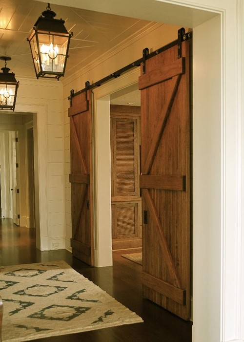 10 barn door designs ideas 2015 2016 interior for Barn door closet door ideas