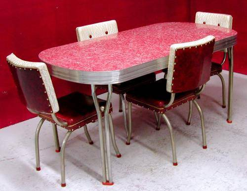 1950's retro kitchen table chairs – Bringing Back Classic New York City Diner to Your Kitchen