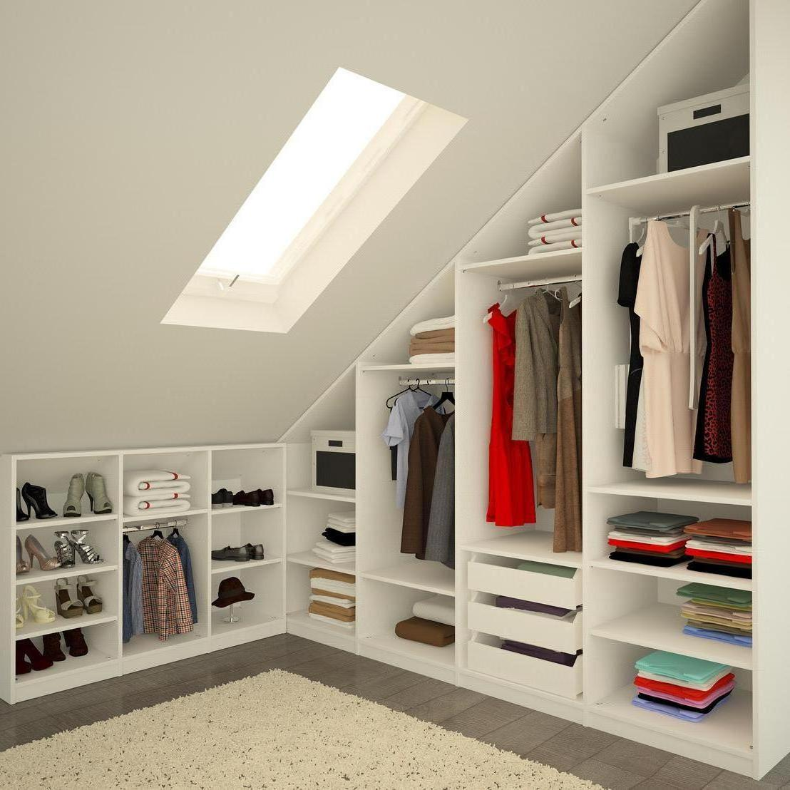 Attic bedroom closet ideas 18 tips to rich harmony for Bedroom in attic ideas