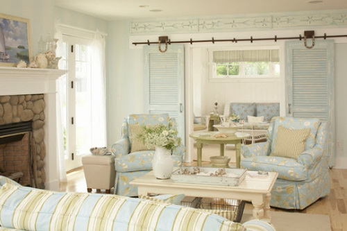 Beach house interior paint colors how to make your home more attractive interior exterior for Cottage living room colour schemes