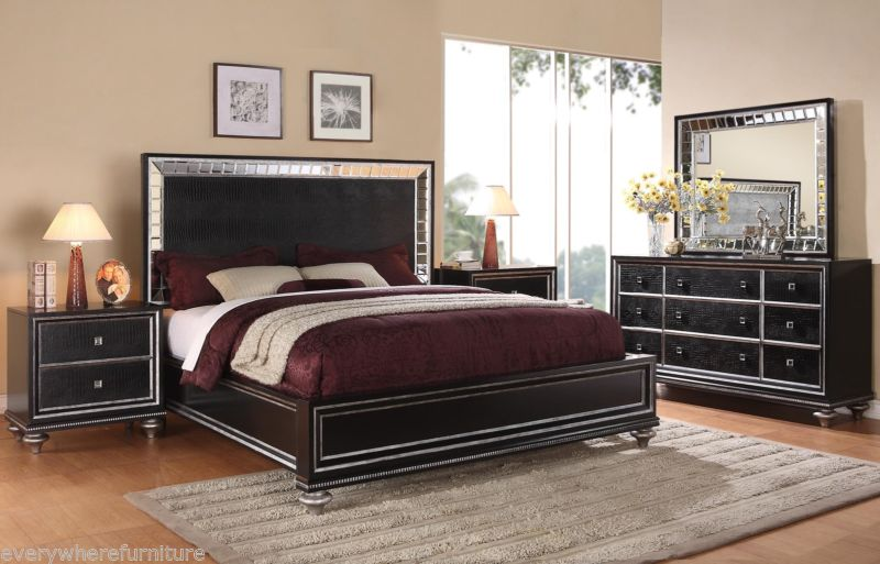 Black mirrored glass bedroom furniture - make your home vintage ...