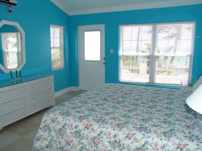 blue and pink bedroom interior exterior doors