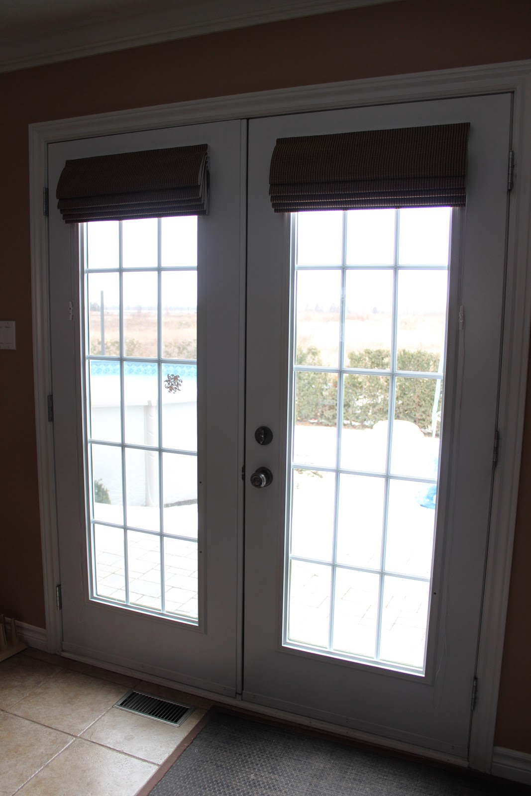 27 things you must know about french doors interior blinds for Exterior closet doors