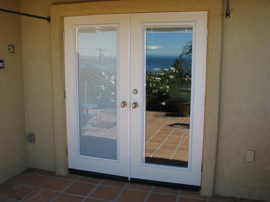 27 things you must know about french doors interior blinds - Outswing exterior french doors with blinds ...