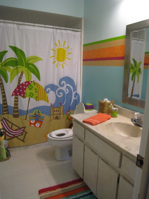 Kids beach bathroom ideas interior exterior ideas for Beach themed bathroom sets