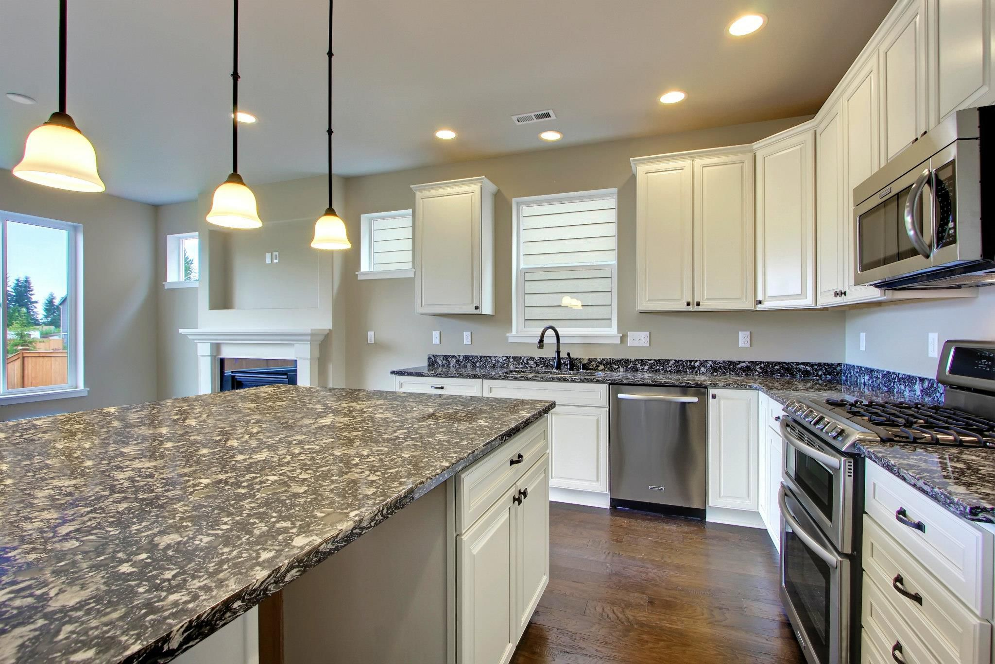 White Granite Kitchen Tops White Cabinets With Dark Countertops
