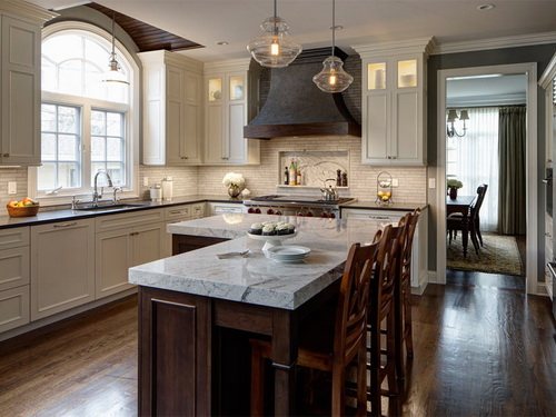 L Shaped Kitchen Island Interior amp Exterior Doors