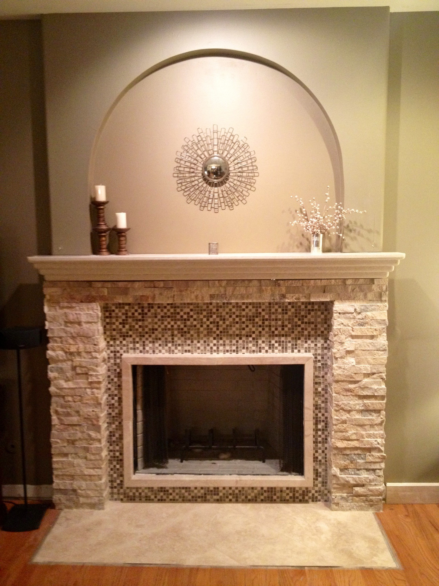 Marble fireplace surround ideas bring a warm - Stone fireplace surround ideas ...