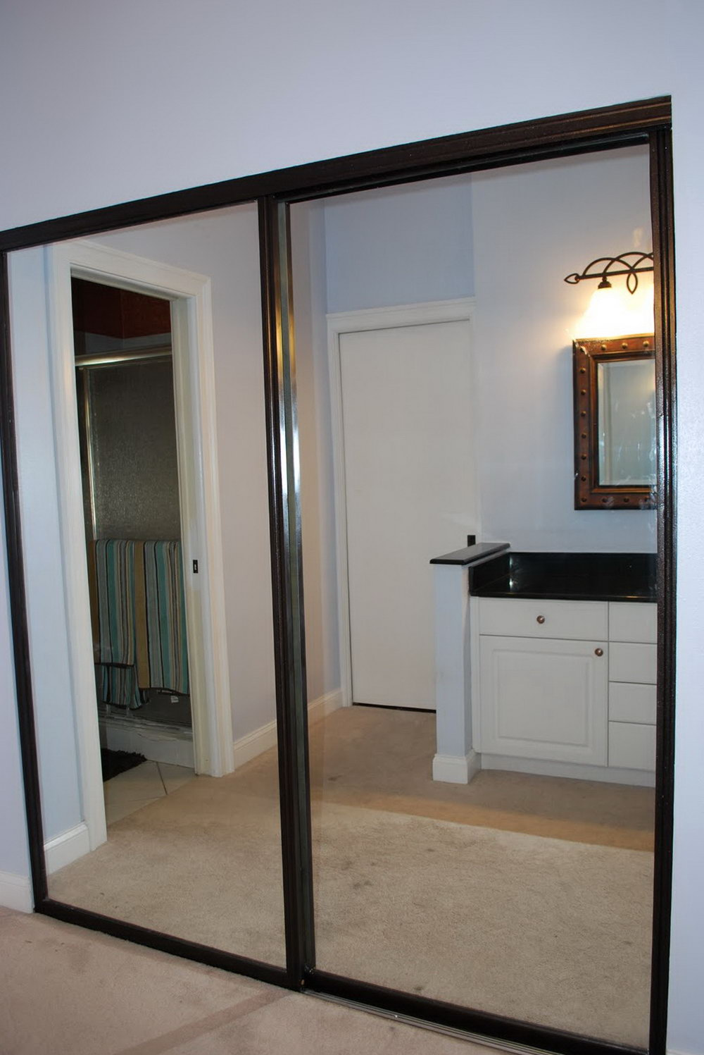 Mirrored closet doors menards a simple upgrade to any for Exterior closet doors