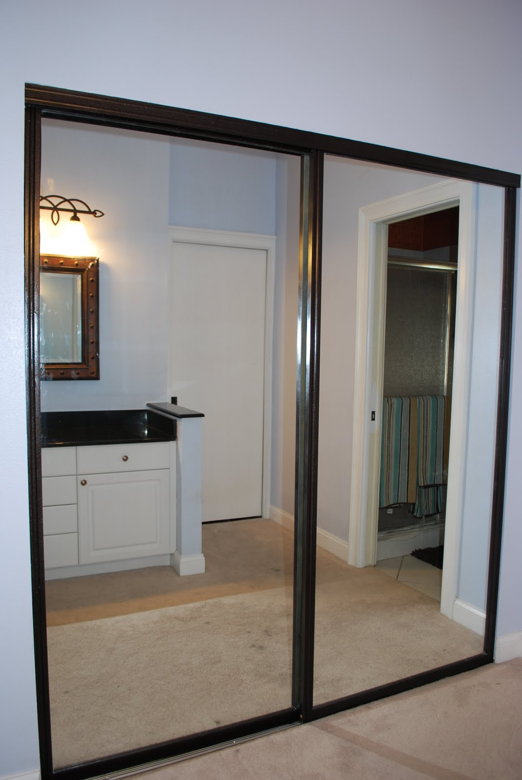 Mirrored closet doors menards a simple upgrade to any for Sliding mirror doors