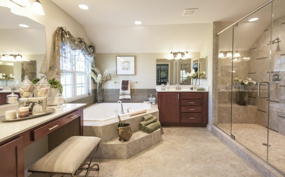 Model home bathroom pictures 17 varities of looking your for Home restroom design