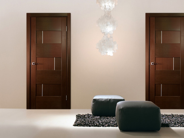 Modern bedroom door designs 18 ways to fit your interior - Puertas de madera interiores modernas ...