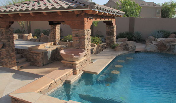 Outdoor pool and bar designs bring out the beauty with for Pool design with bar