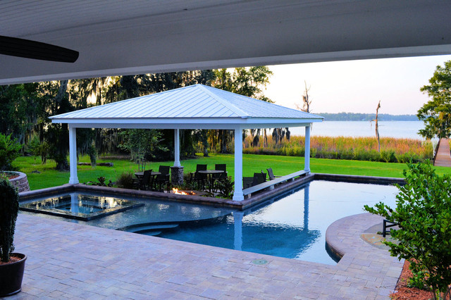 Outdoor pool and bar designs bring out the beauty with for Pool exterior design