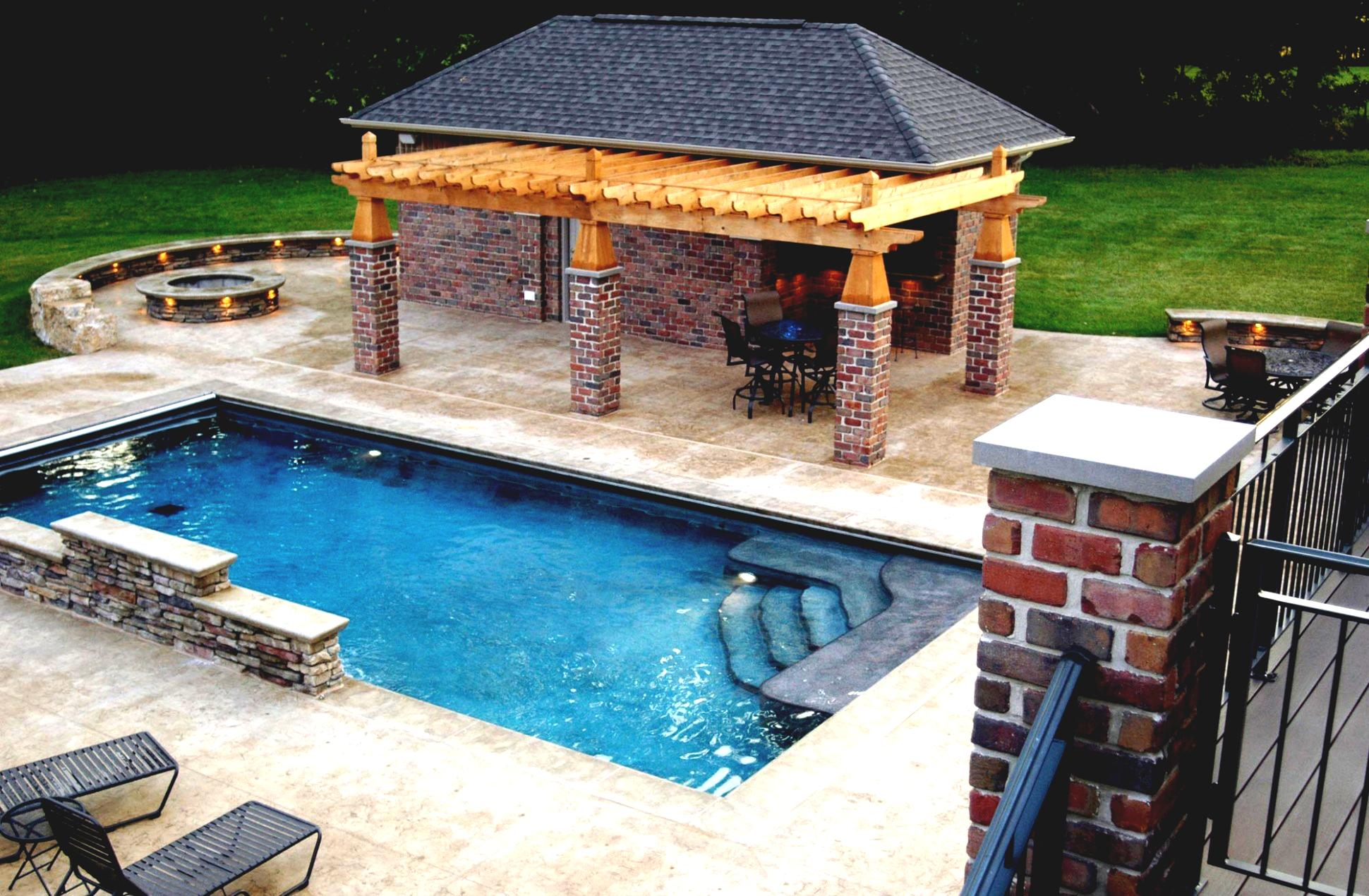 Outdoor pool and bar designs bring out the beauty with for Outdoor pool designs
