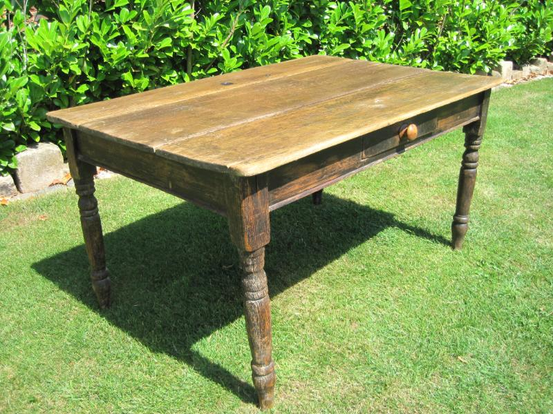 Antique kitchen table with drawer – Stop Using the Floor for your Writing Surface