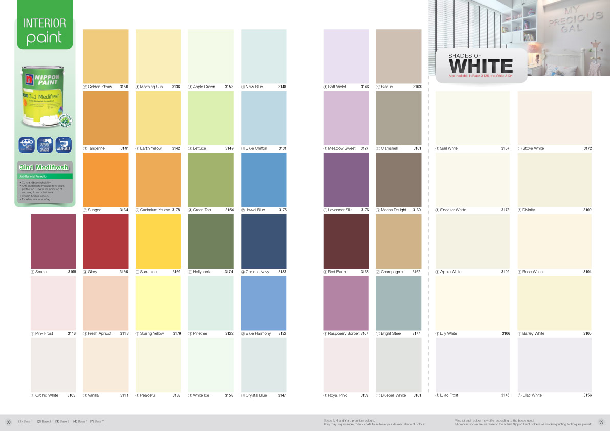 Asian paints color shade card