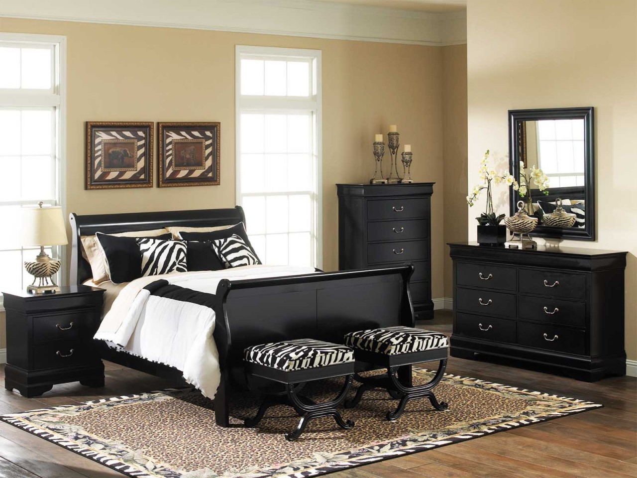 Black bedroom set full size of bedroom furniture sets king for Front door furniture sets