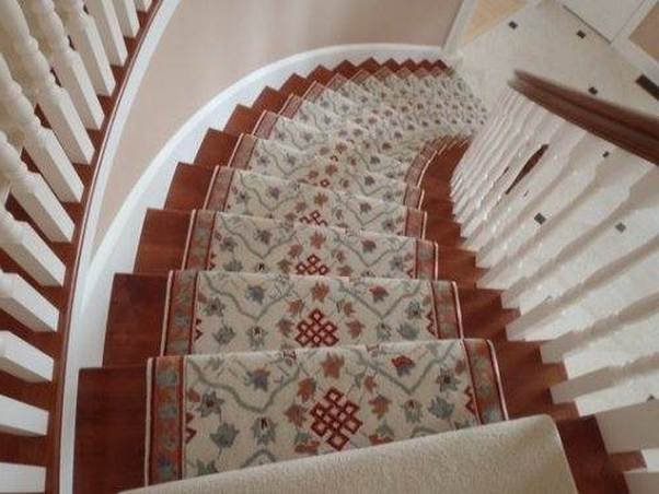 Carpet runner for stairs over carpet – 20 reasons to buy