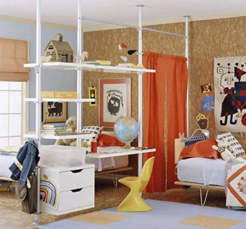 10 Creative Examples For Dividing Small Spaces: Creative Room Dividers For Kids