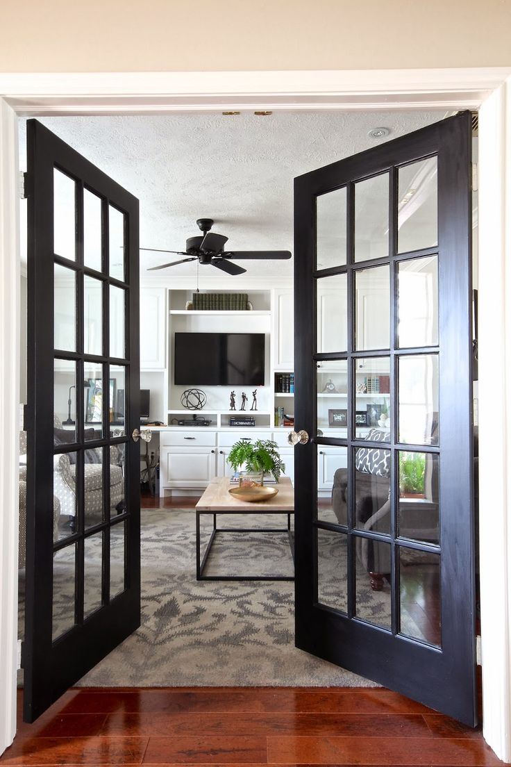 Elegant interior french doors favorite for house owners for Exterior kitchen doors with glass
