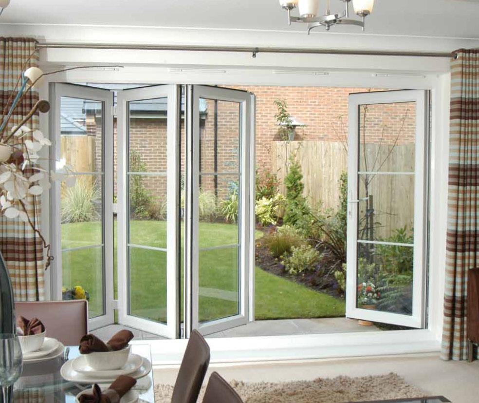 Folding french doors exterior the door that brings the for Double opening patio doors