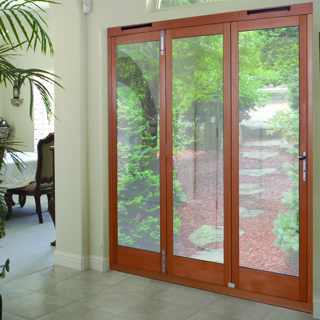 Folding french doors exterior the door that brings the for Folding french doors