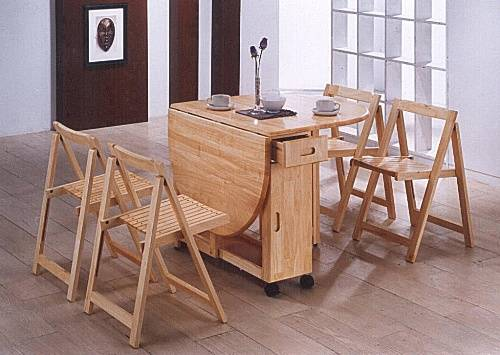 Folding kitchen table and 4 chairs – 20 Design Ideas For Smaller Kitchen Areas