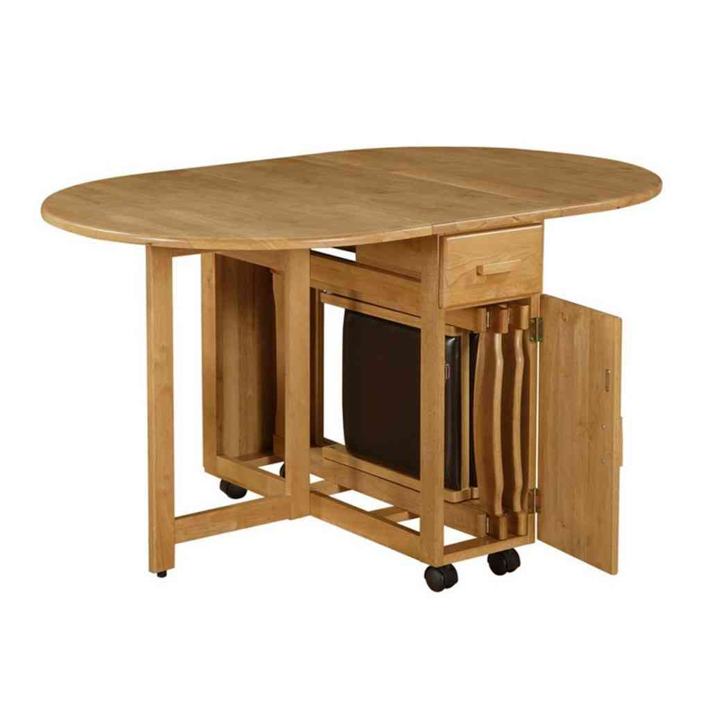 Folding kitchen table and 4 chairs 20 design ideas for for Kitchen table with 4 chairs