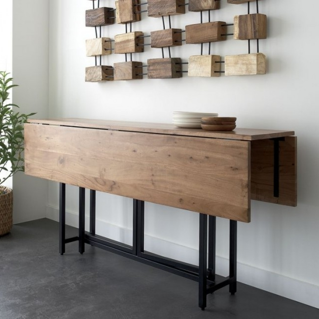 Wooden Wall Tables : Benefits of folding kitchen table wall mounted