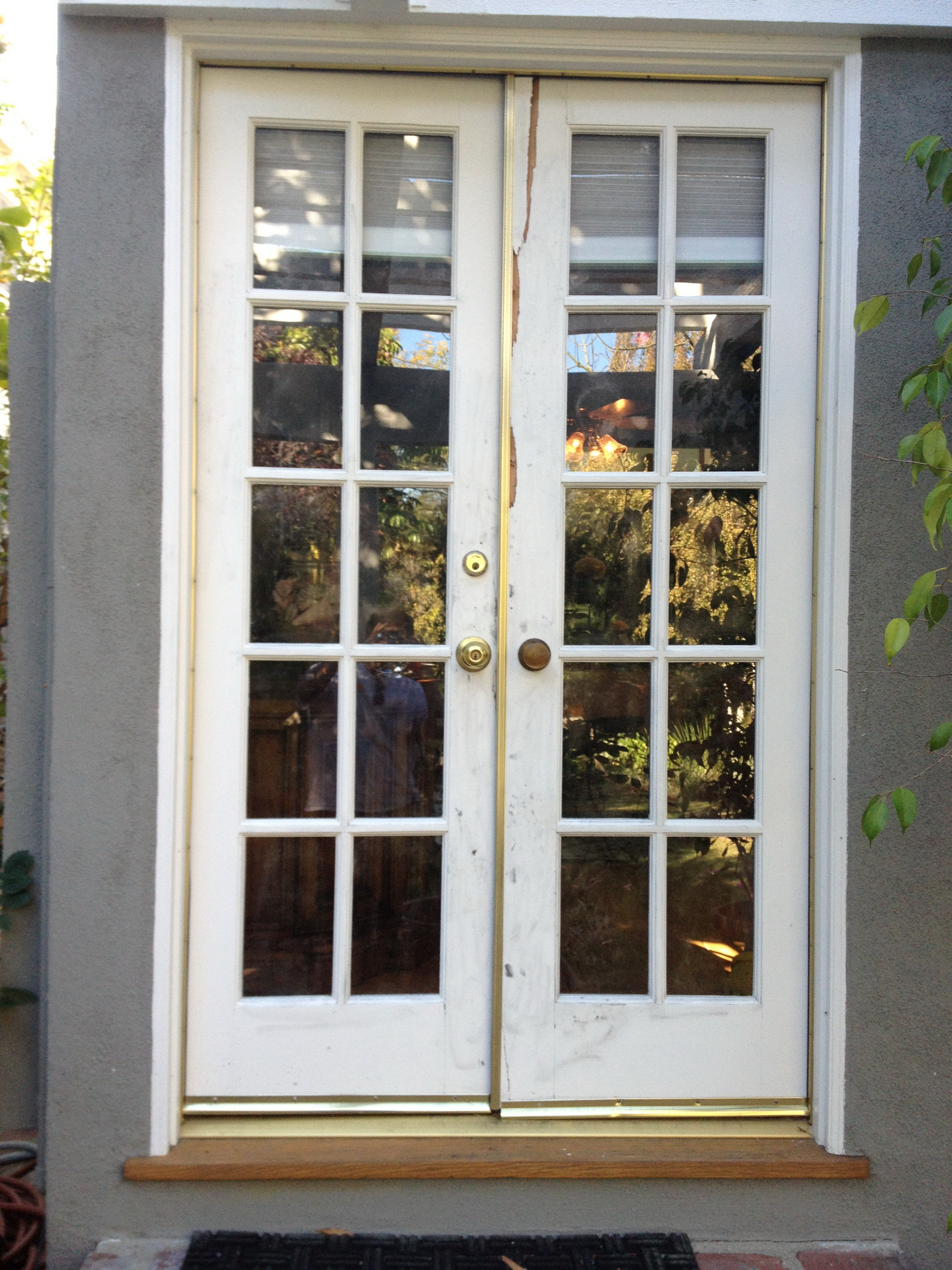 French country double entry doors give charming for Double door front door
