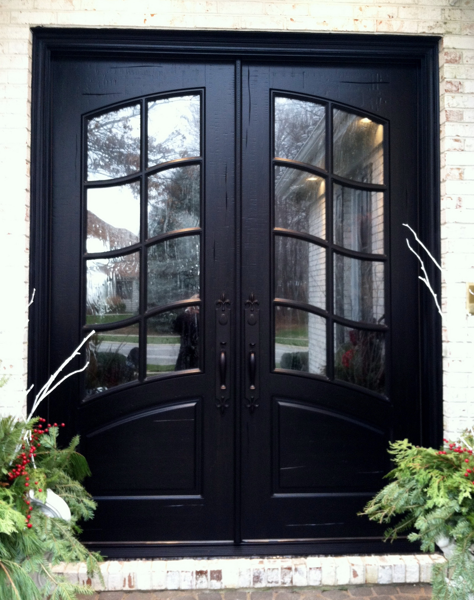 French Exterior Doors Steel: French Country Double Entry Doors Give Charming