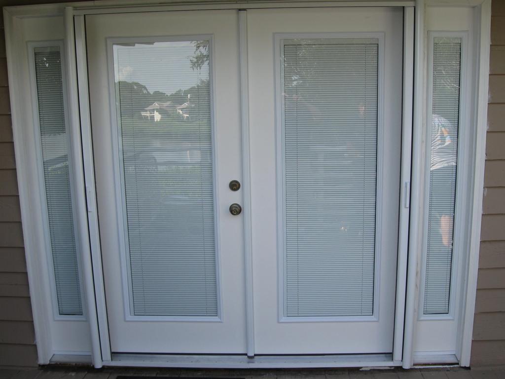 Cost To Install French Doors Part - 42: 768 #4F5D67 French Doors Exterior Blinds Interior U0026 Exterior Doors  Picture/photo Average Cost
