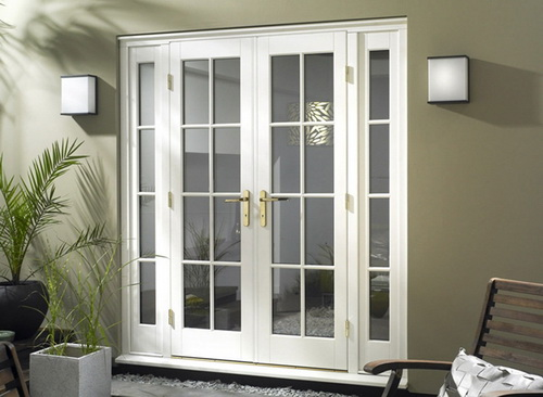 Small french exterior doors for home design ideas for French doors front entrance