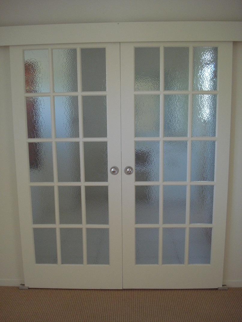 French doors interior frosted glass an ideal material for use in any wardrobe door style for Interior french doors