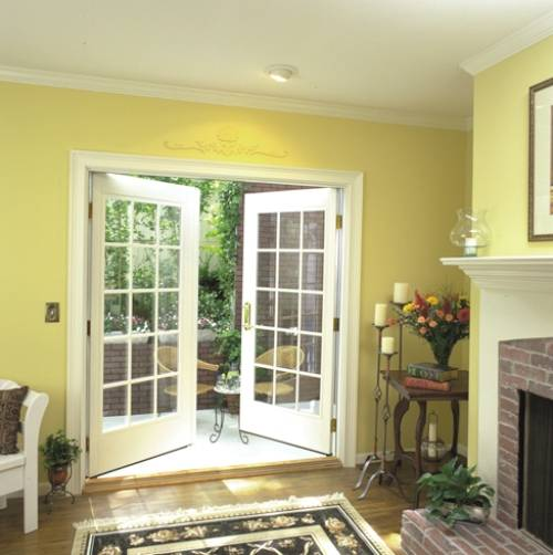 French double doors lowes interior exterior ideas for Interior exterior doors