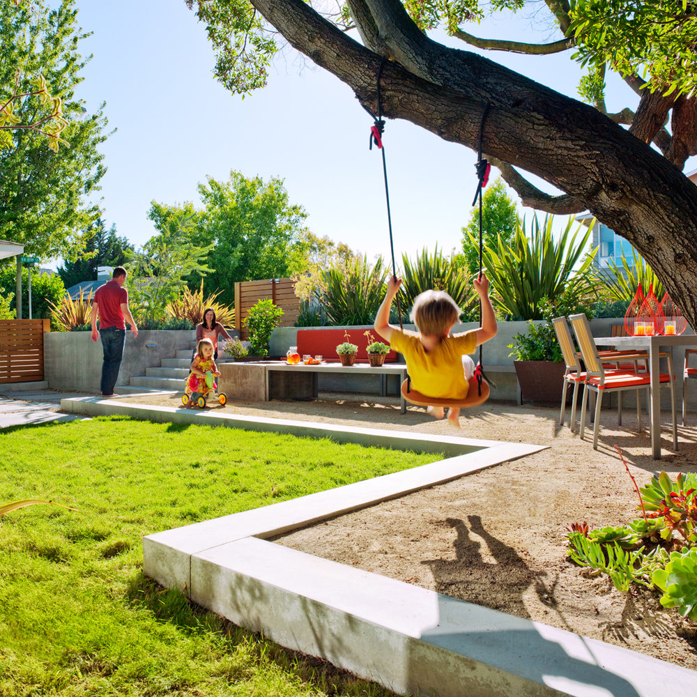 Image result for kids having fun in the backyard garden