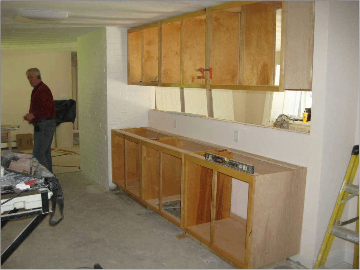 Improving kitchen designs with kitchen cabinet building for Build kitchen cabinets