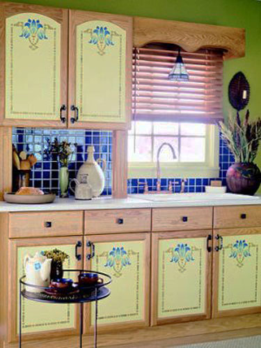 TOP 20 Kitchen cabinet stencil ideas 2018