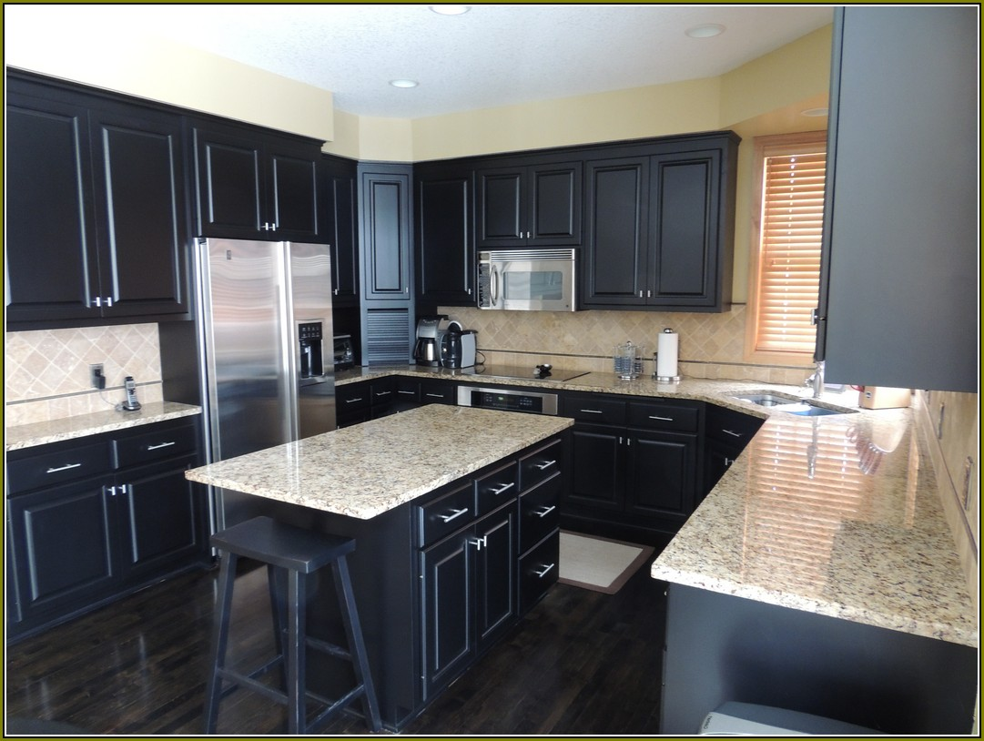 Kitchen White Cabinets Dark Wood Floors