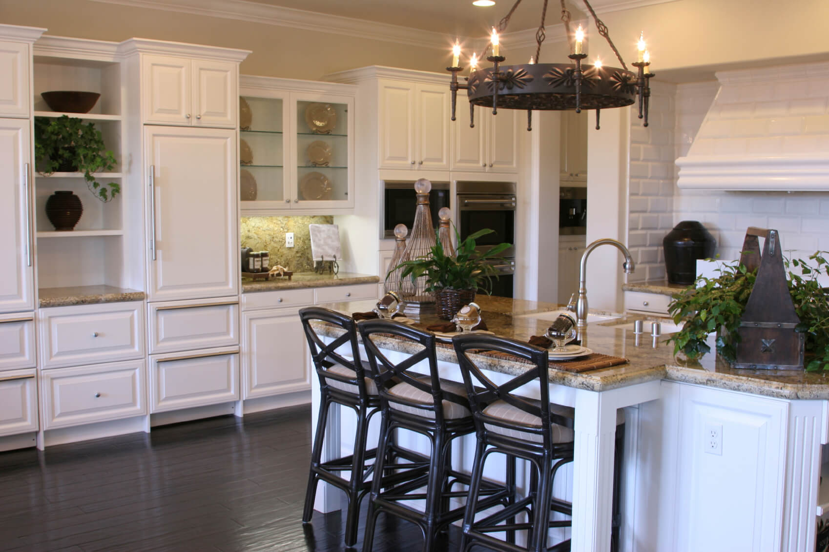 Kitchen white cabinets dark wood floors 20 tips for ers