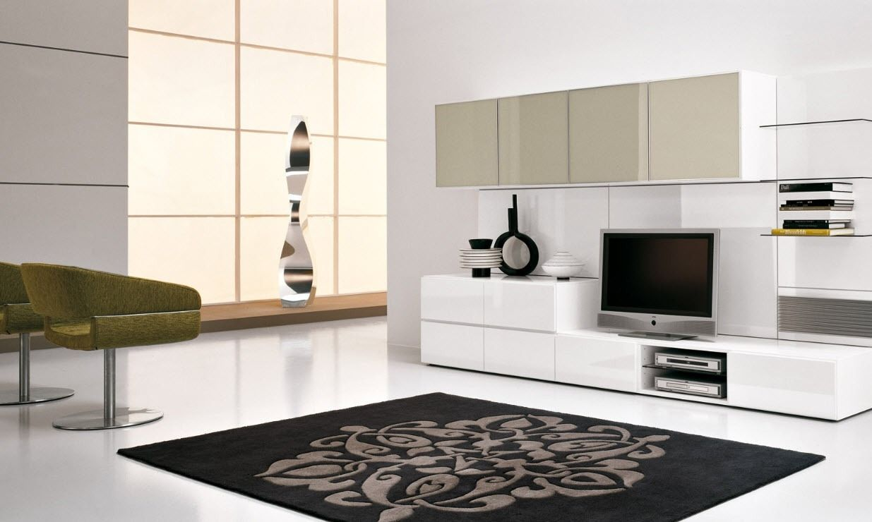 Modern tv wall units for living room interesting black for Living room units designs