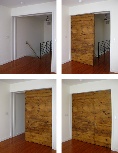 Barn door designs interior gorgeous tan barn door ideas for Small sliding exterior door