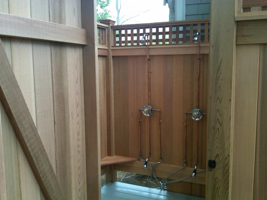 21 things to know abot outdoor shower drainage before for Exterior enclosure