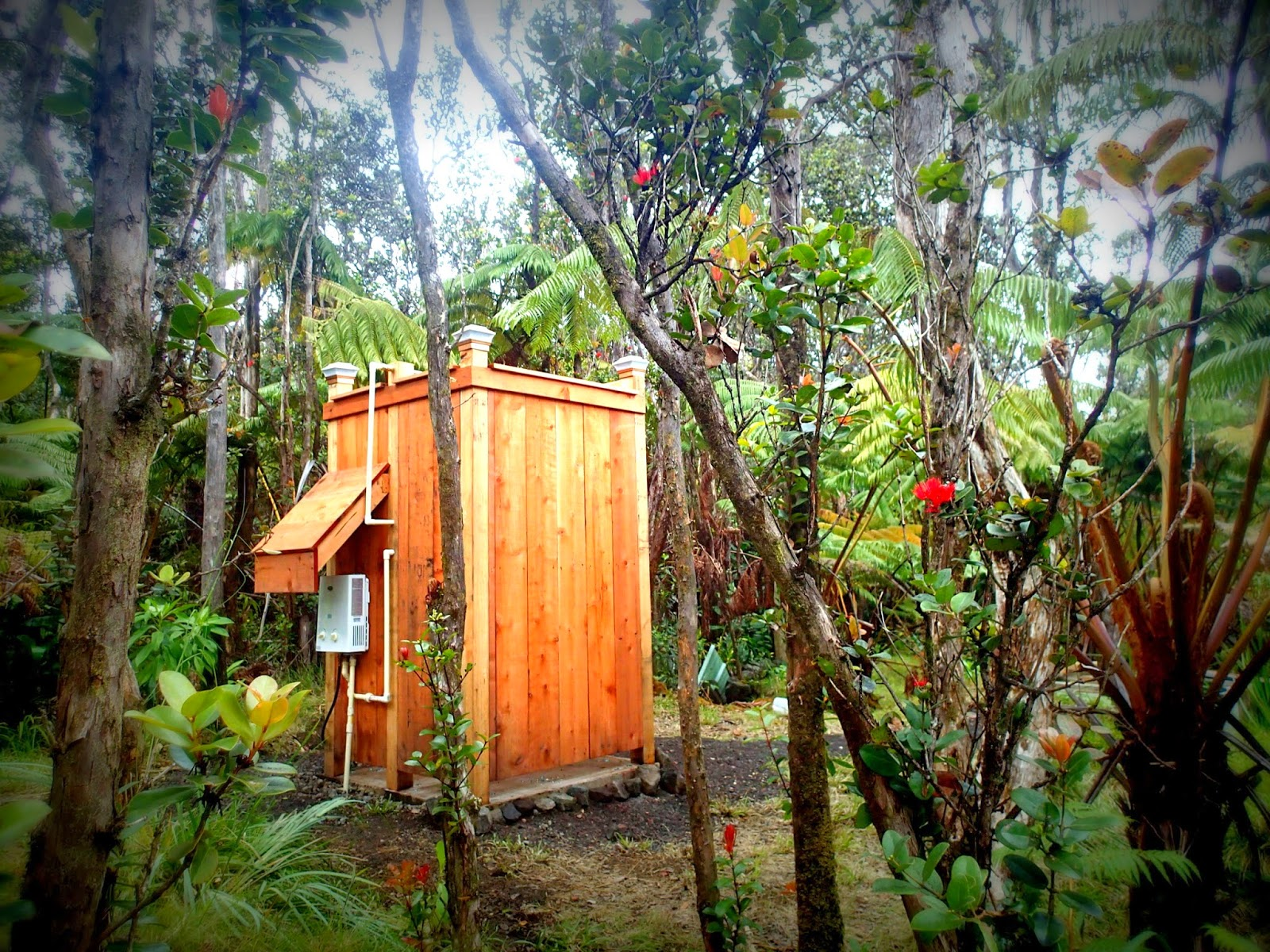 The Beauty Of Outdoor Shower With Hot Water